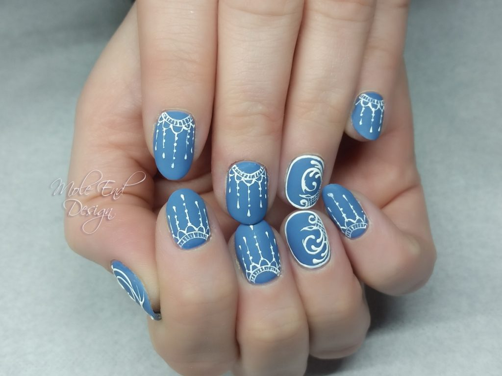 Matte Wedgewood Blue with 3d detail