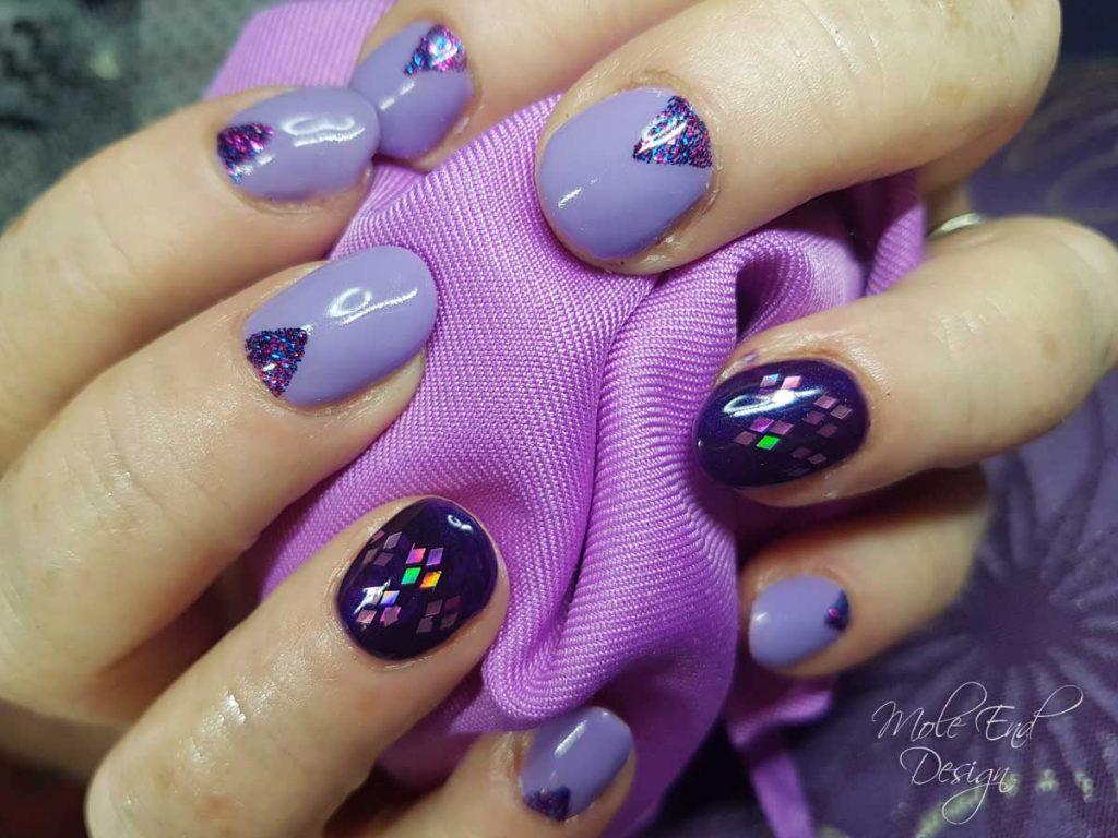Purple Chevron glitter