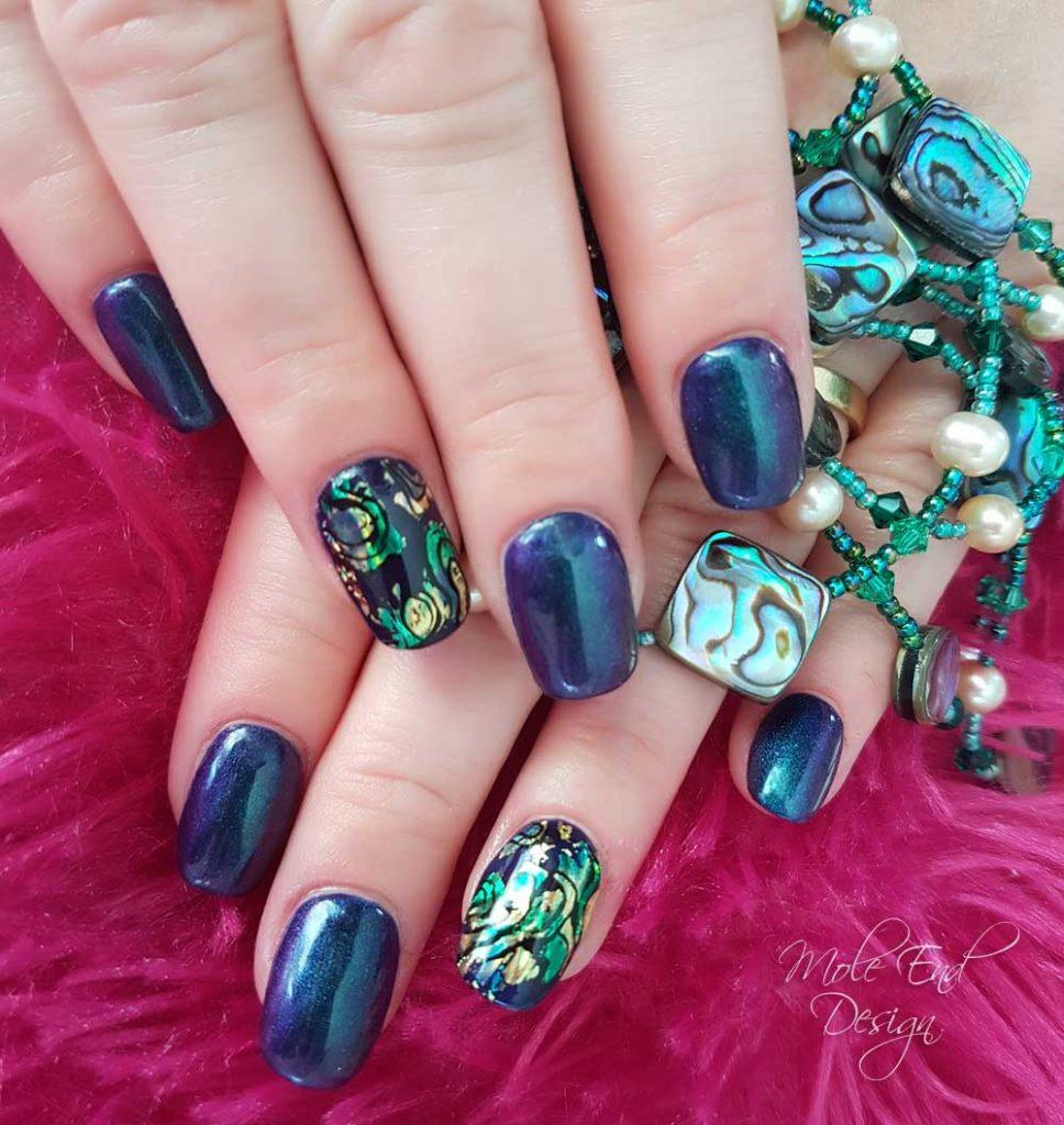 Paua shell nail