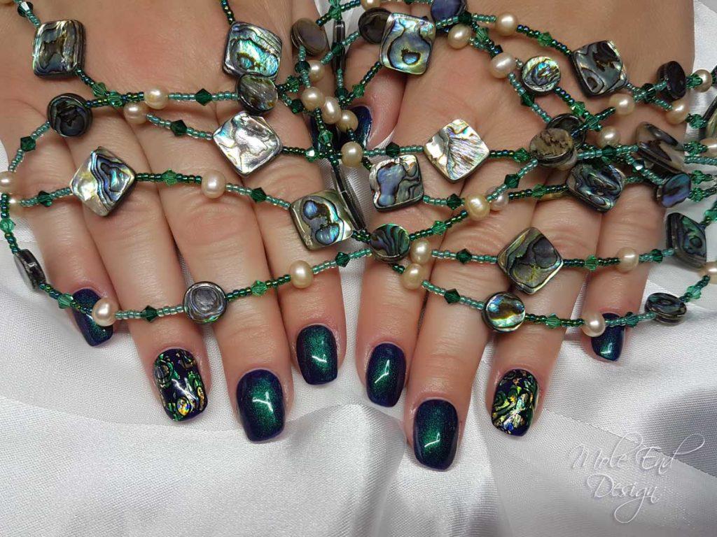 Paua shell Nails